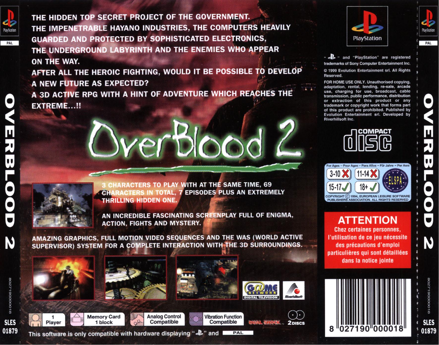 OverBlood 2 - Europe Back