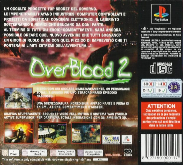 OverBlood 2 - Italy Back